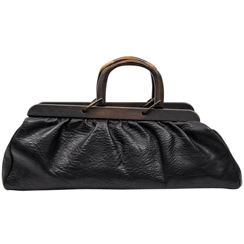 Gucci Black Calfskin Three Sectional Hangbag TuoCg