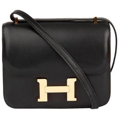 2016 Hermes Black Swift Leather Constance Mini