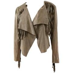 Fringed Vintage Suede Jacket