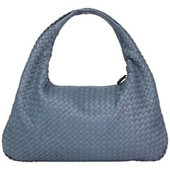 2015 Tourmaline Woven Lambskin Medium Veneta Bag