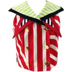 Versace multicolour cotton Striped Gilet