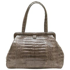 NANCY GONZALES Bag in Gray Corocdile