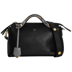 Fendi Tri-Color Medium By The Way Boston Bag with Chain Detail