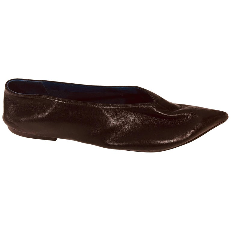 Celine Pointed Leather Flats