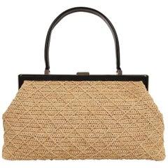 Beige Top Handle Bags