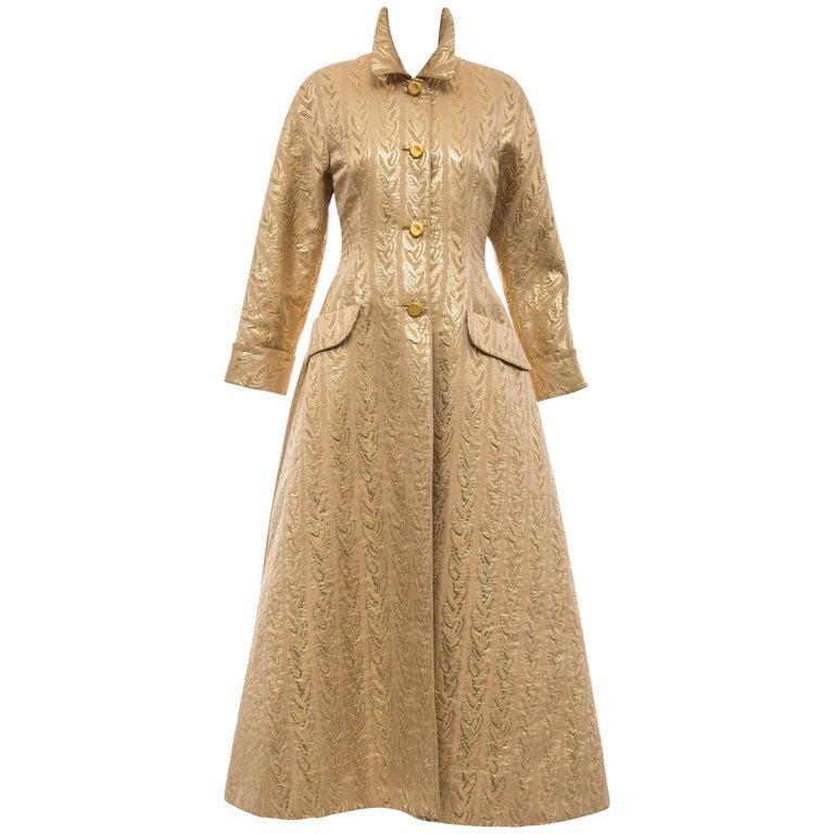 Prada gold brocade evening coat, 1992