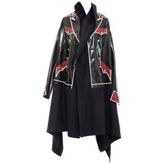 Comme des Garcons Black Vinyl Panels Coat,  Fall 2009