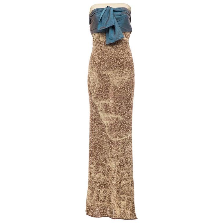 Jean Paul Gaultier Silk Strapless Constellation Evening Dress, Spring 2001 For Sale