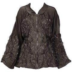 Iris Van Herpen Mesh Overlay Zip Jacket Magnetic Motion Collection, Spring 2015