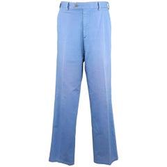 Men's LORO PIANA Size 34 Washed Blue Cotton Chino Pants