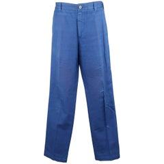 Men's LORO PIANA Size 34 Royal Blue Cotton Chino Pants