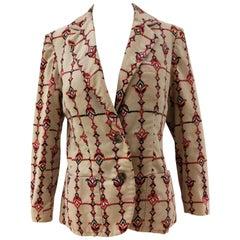 Emilio Pucci Beije Multicolour Velvet Jacket