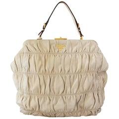 Prada Gaufre Beige Bag