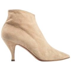 Azzedine Alaia nude suede boots, A/W 1989