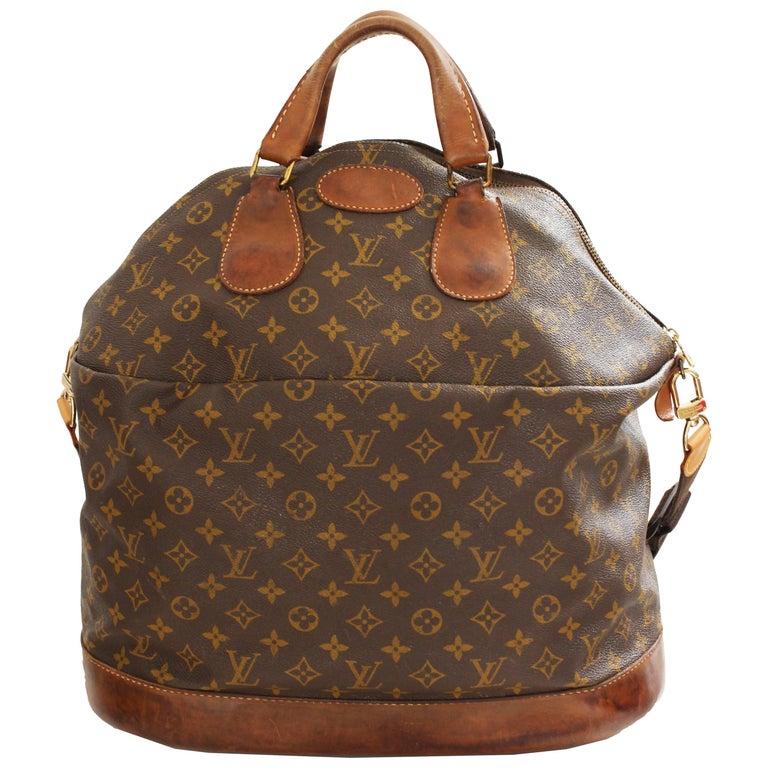 Louis Vuitton Vintage Large Steamer Bag Keepall Monogram Travel Tote, 1970s
