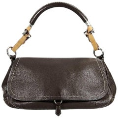 Brown Prada Leather Shoulder Bag