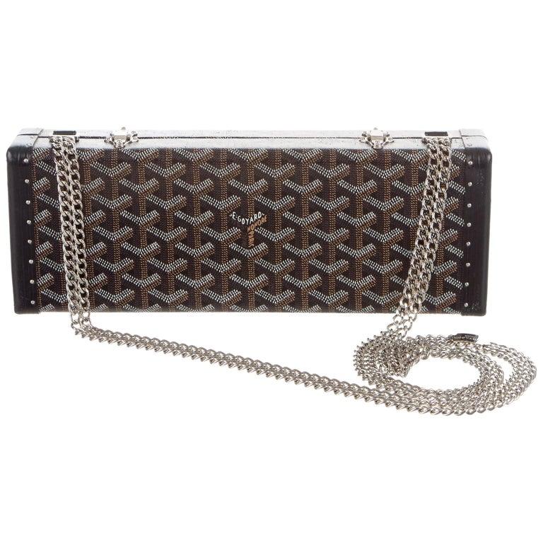 Goyard New Monogram 2 in 1 Evening Clutch Box Drop Chain Shoulder Bag