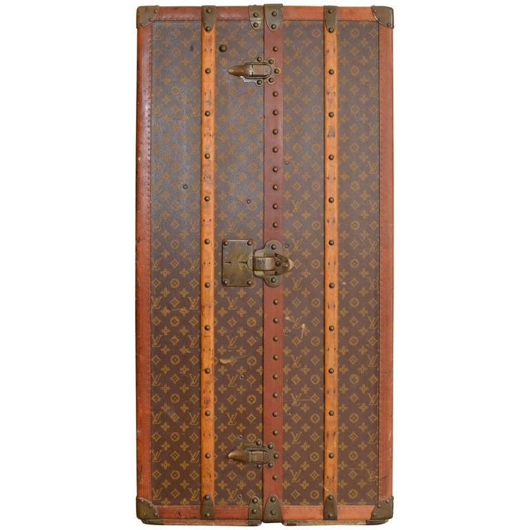Louis Vuitton Monogram Wardrobe Antique Trunk, Circa 1925-30