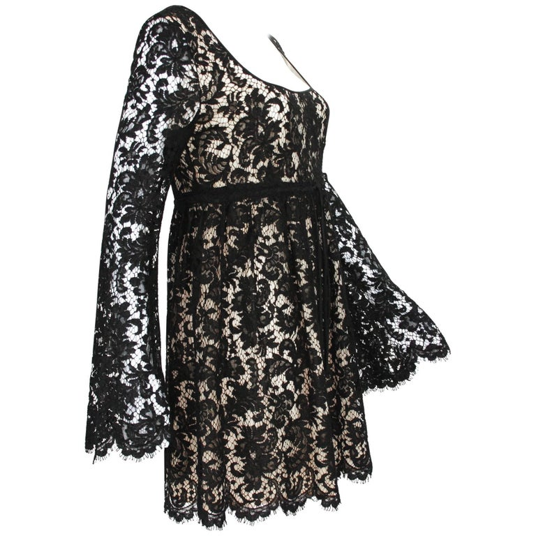 55d68d38f0 Vintage Tom Ford for Gucci S S 1996 Baby Doll Lace Mini Dress For Sale