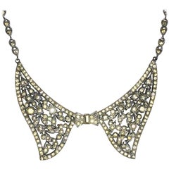 Art Deco Spectacular bow ribbon necklace