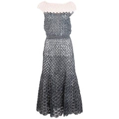 Crochet Raffia Dress circa 1950s