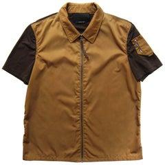 Prada Nylon Top Zip Front Jacket 1990s