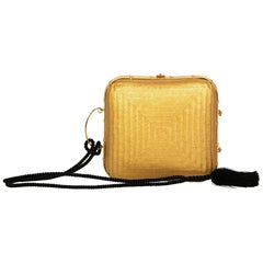 Tiffany & Co. by Elsa Peretti Gold Lacquered Bamboo Tassel Minaudière Bag, 1990s