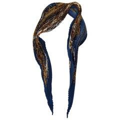 "Hermes ""Grand Cortege A Moscou"" Silk Plisse Scarf"