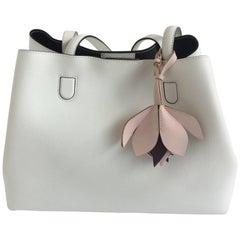 Christian Dior White Leather Blossom Bag