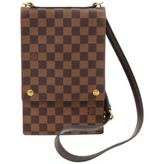 Louis Vuitton Portobello Ebene Damier Canvas Crossbody Bag