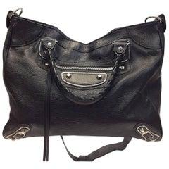 Balenciaga Black Metallic Edge Leather Handbag