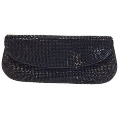 Judith Leiber Black Beaded Clutch