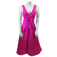 Scassi Vintage Fuchsia Formal Gown