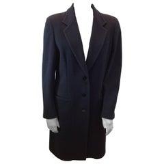 Donna Karan Black Wool Coat