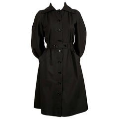 1970's ANDRES COURREGES black trench coat