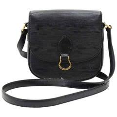 Vintage Louis Vuitton Mini Saint Cloud Black Epi Leather Crossbody Bag