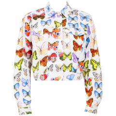 Versace jeans signature butterfly print jacket, S / S 1995