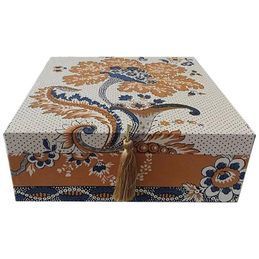 Box For Hermès Scarves Carrés Storage Box Decorative Box Scarf Box Pierre  Frey For Sale