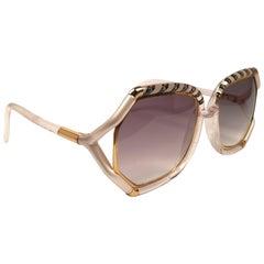 Ted Lapidus Paris Vintage Translucent Oversized Sunglasses France, 1970