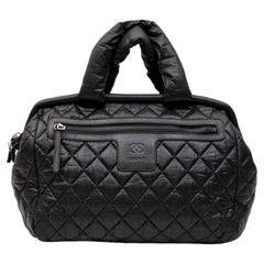 CHANEL Cocoon Bag in Black Quilted Parachute Fabric