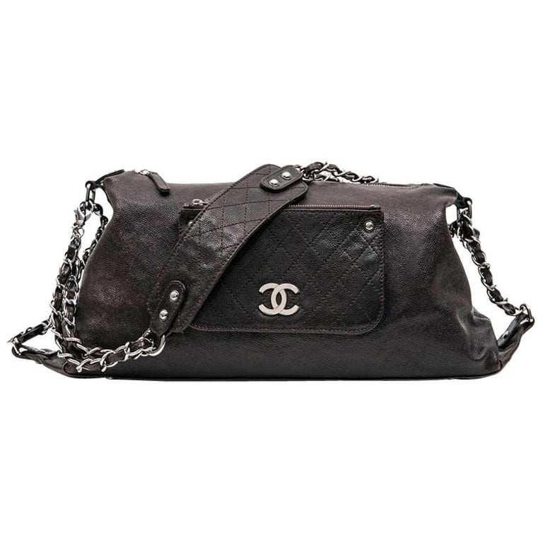 CHANEL Satchel in Brown Grained Leather