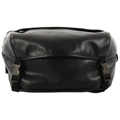 Prada Double Buckle Flap Camera Bag Soft Calfskin Medium