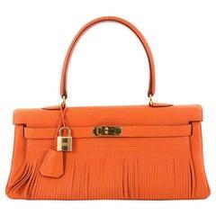 Hermes Kelly Fringe Clemence 42 Shoulder Bag