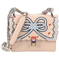 Fendi Kan I Handbag Embroidered Studded Leather Small