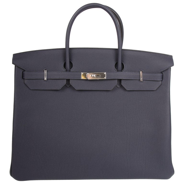 241d27347514 Hermès Birkin Bag 40 - Bleu Nuit 2018 at 1stdibs