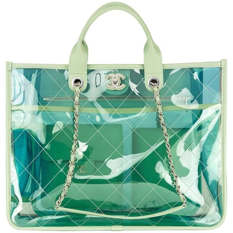 59b796b289da Chanel PVC and Lambskin Large Shopping Tote For Sale at 1stdibs