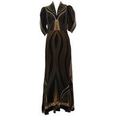 Spring 2007 Roberto Cavalli Milan Runway Silk Gown