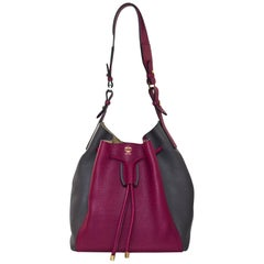 MCM Scooter Red & Grey Large Milla Bucket Bag rt. $890