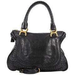 Chloe Marcie Shoulder Bag Whipstitch Leather Medium