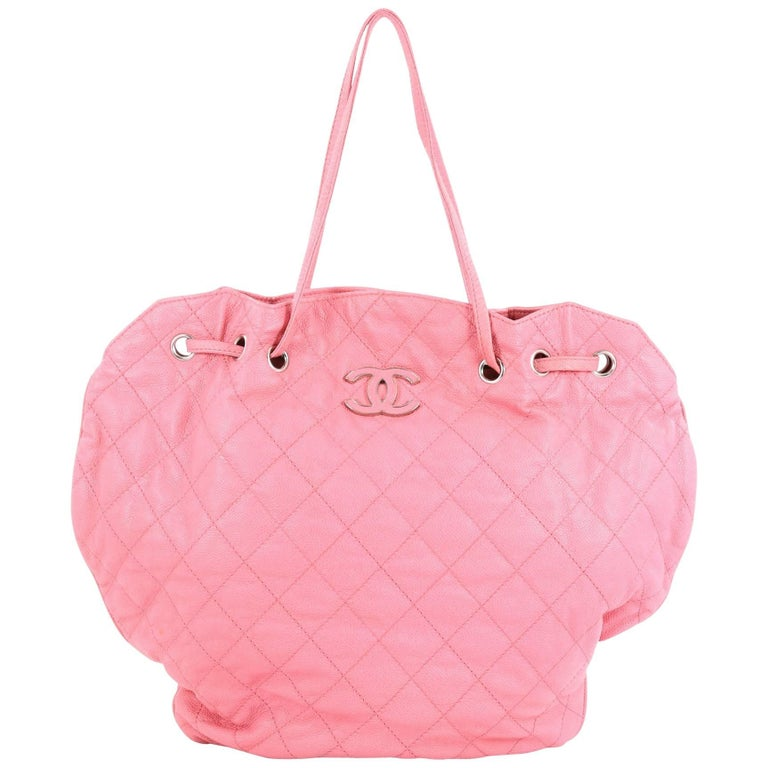 0939e58ee52941 Chanel Cocomark Drawstring Tote Quilted Caviar at 1stdibs